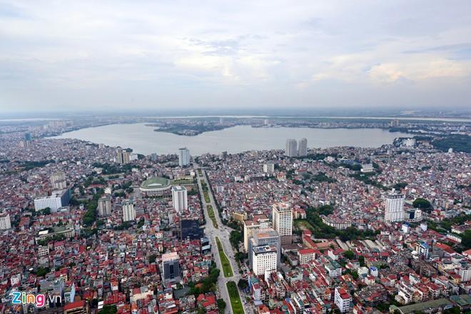 View Hồ Tây Từ vinhomes gallery giang võ